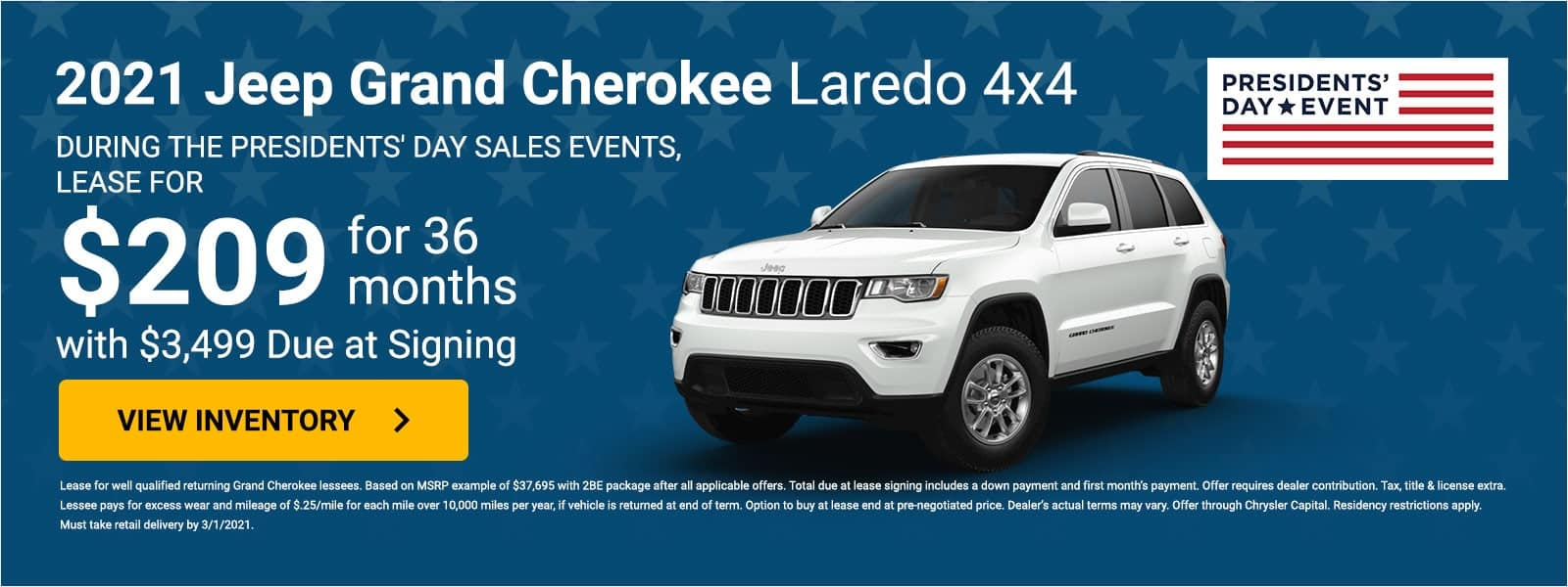 2021 Jeep Grand Cherokee offer