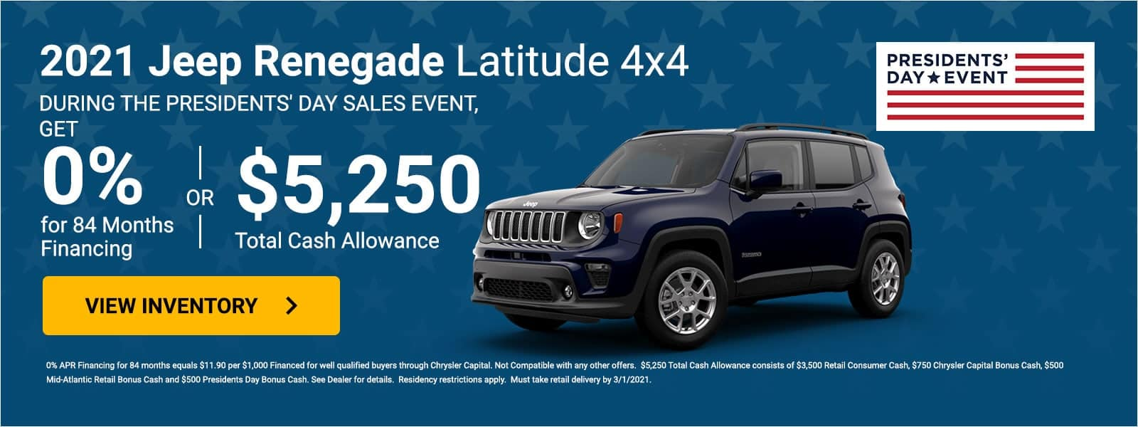 2021 Jeep Renegade Offer