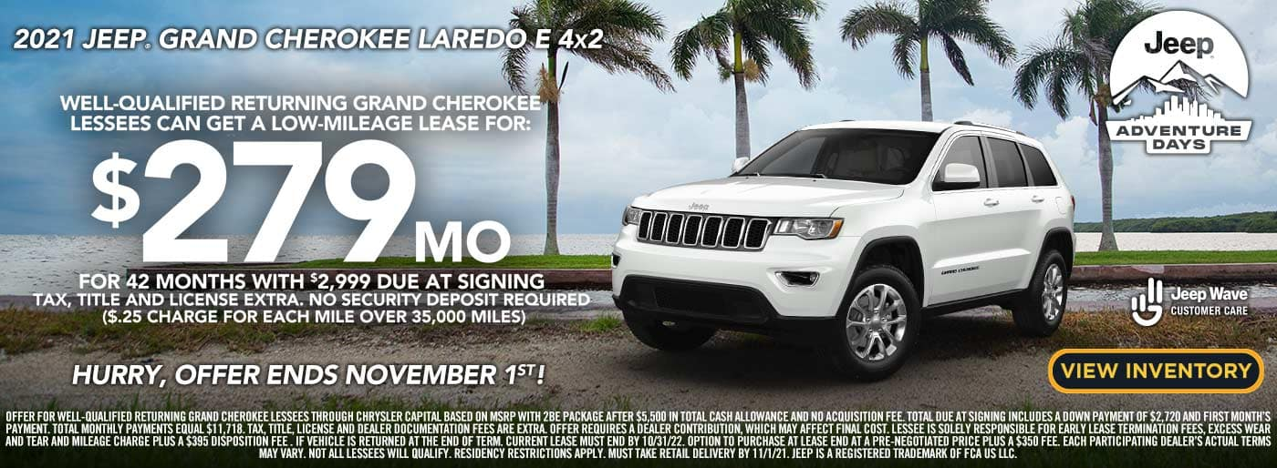 2021 Jeep Grand Cherokee lease offer
