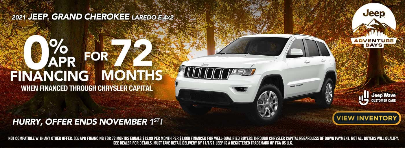 2021 Jeep Grand Cherokee 0% for 72 mo