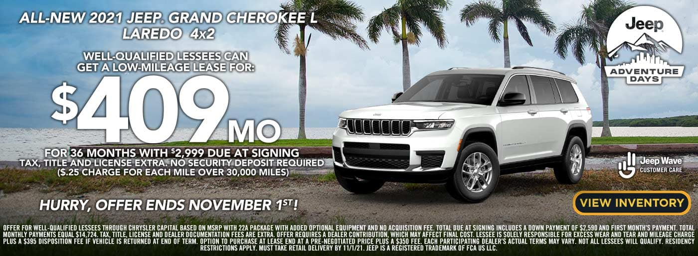 2021 Jeep Grand Cherokee L lease offer