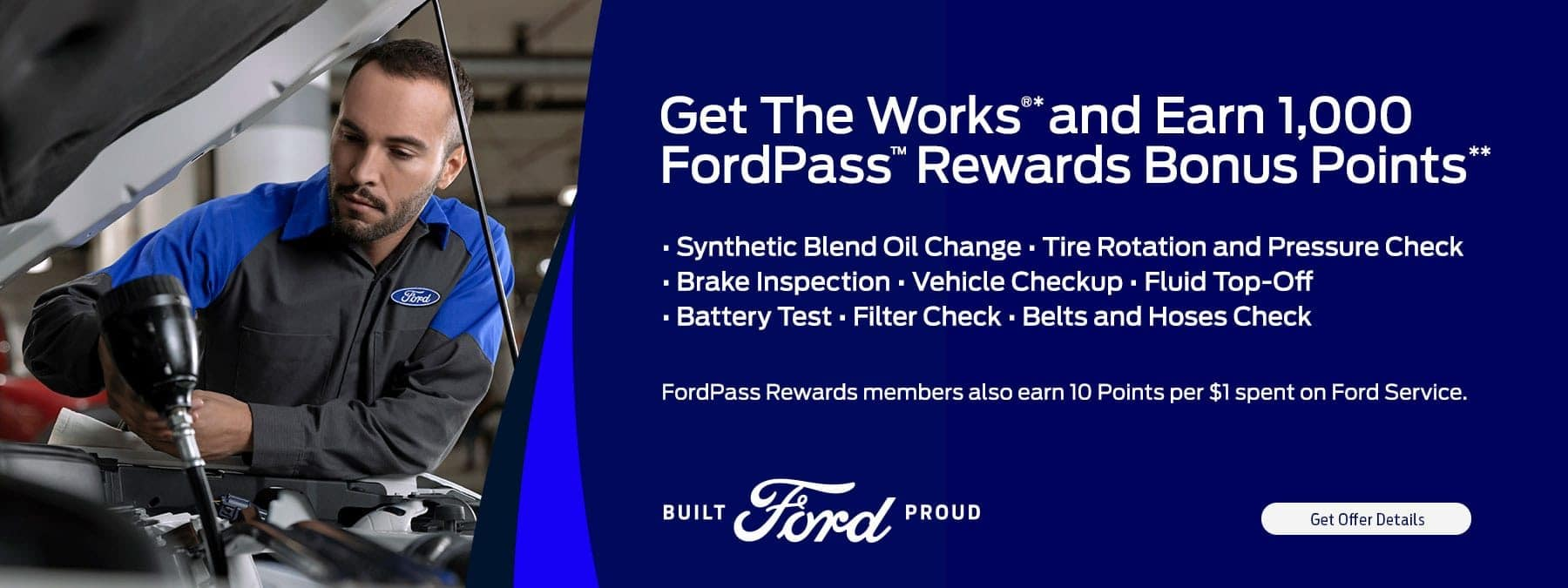 Get The Works and Earn FordPass Rewards points