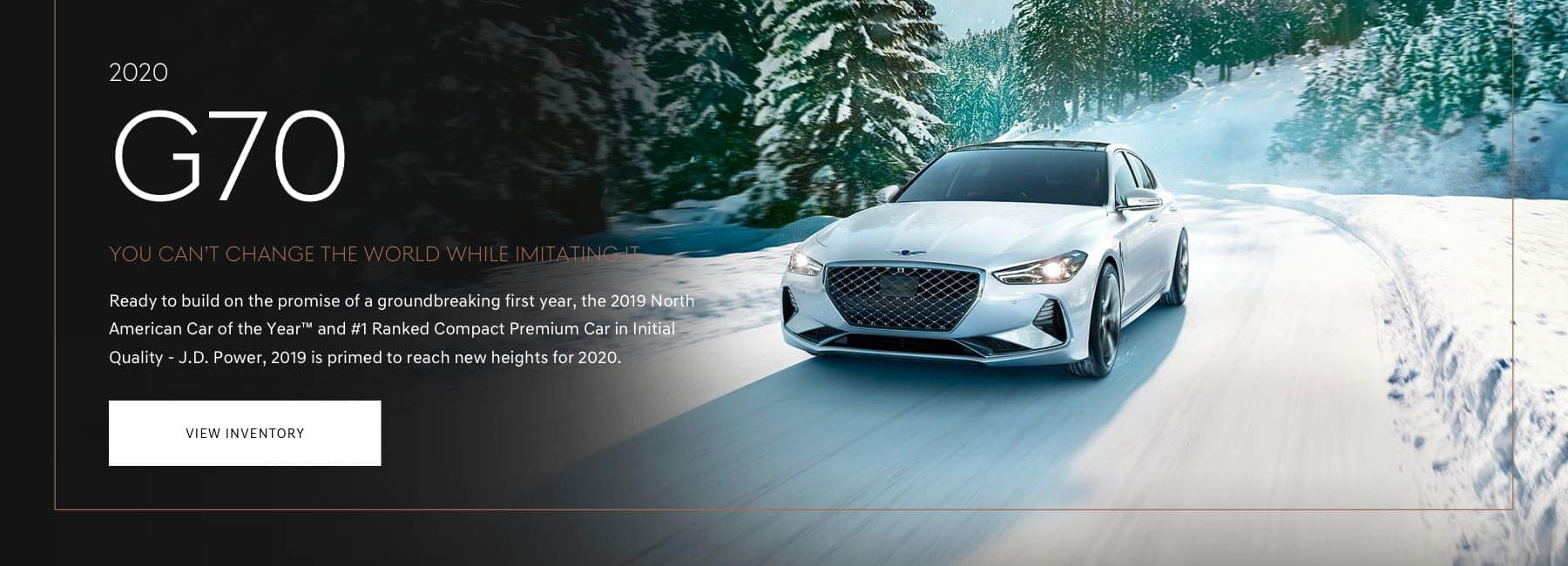 2020 G70 - View Inventory