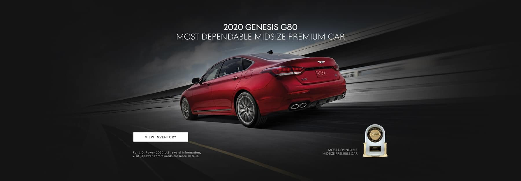 2020 Genesis G80 Most Reliable Midsize Premium car