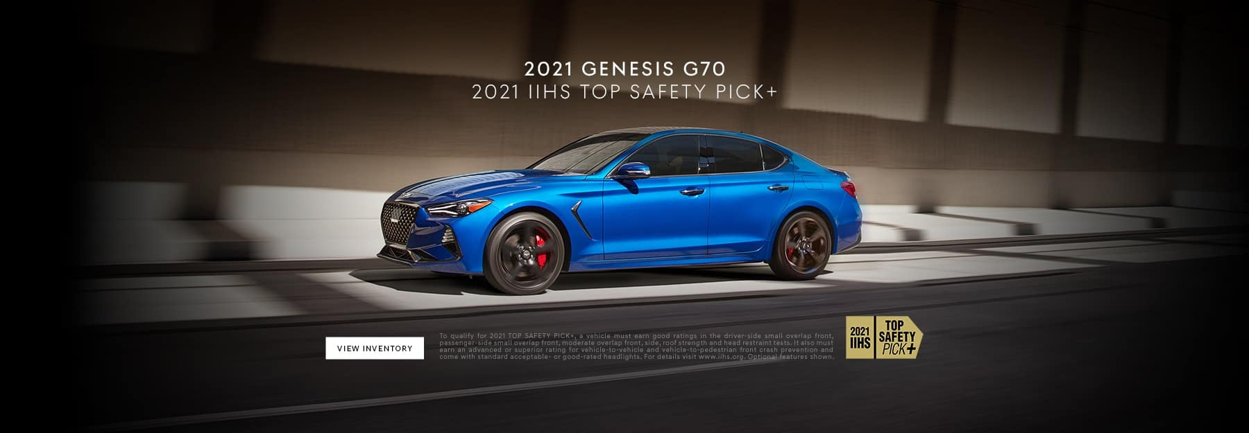 G70 Top Safety Pick Banner