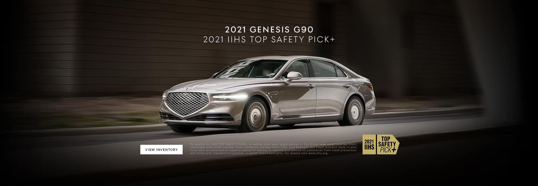 G90 Top Safety Pick Banner