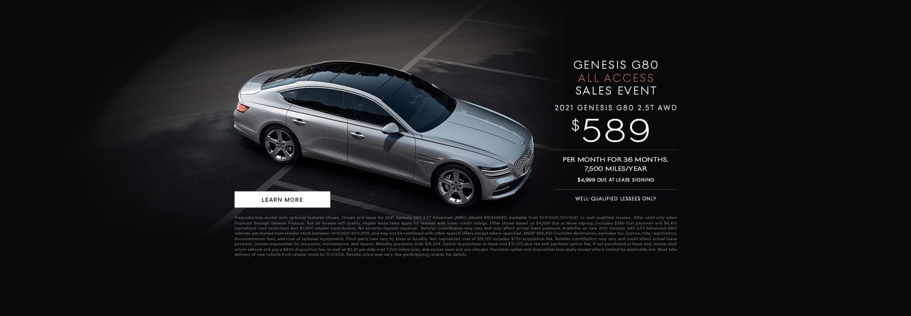 2021 Genesis G80 AWD