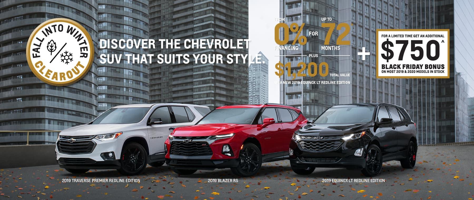 Black Friday Bonus Chevrolet SUV