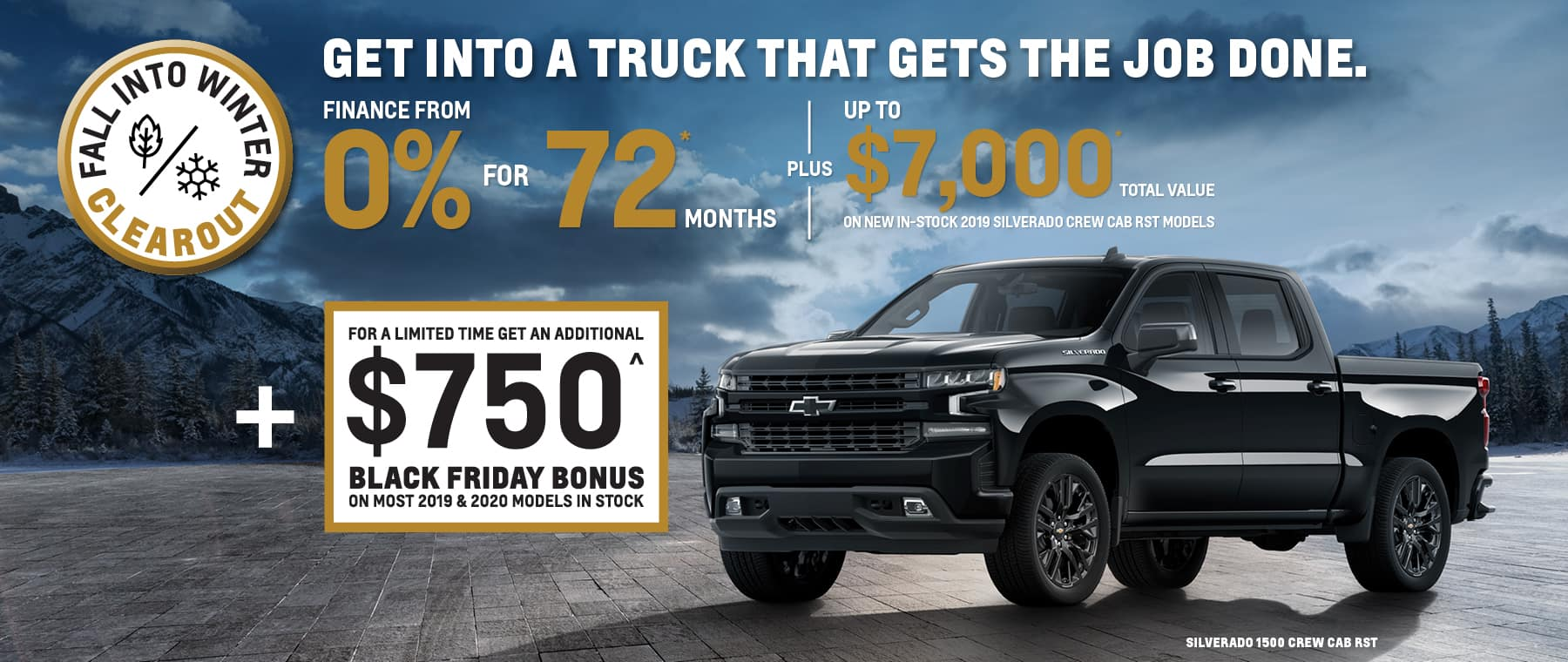 Black Friday Bonus Chevrolet Truck