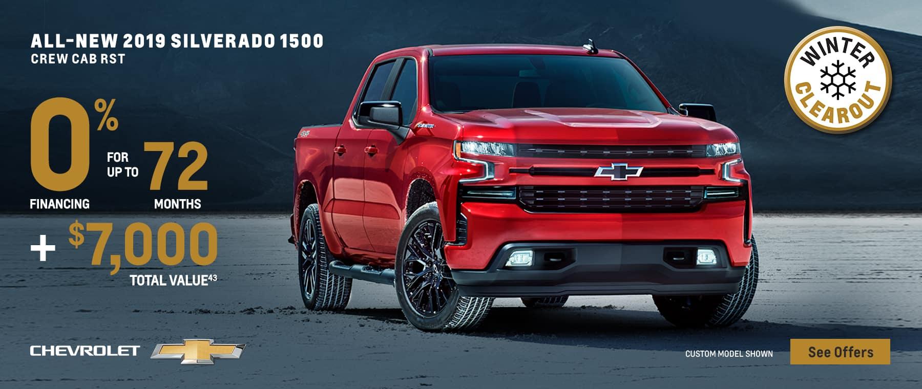 2019 ALL-NEW SILVERADO CREW CAB RST