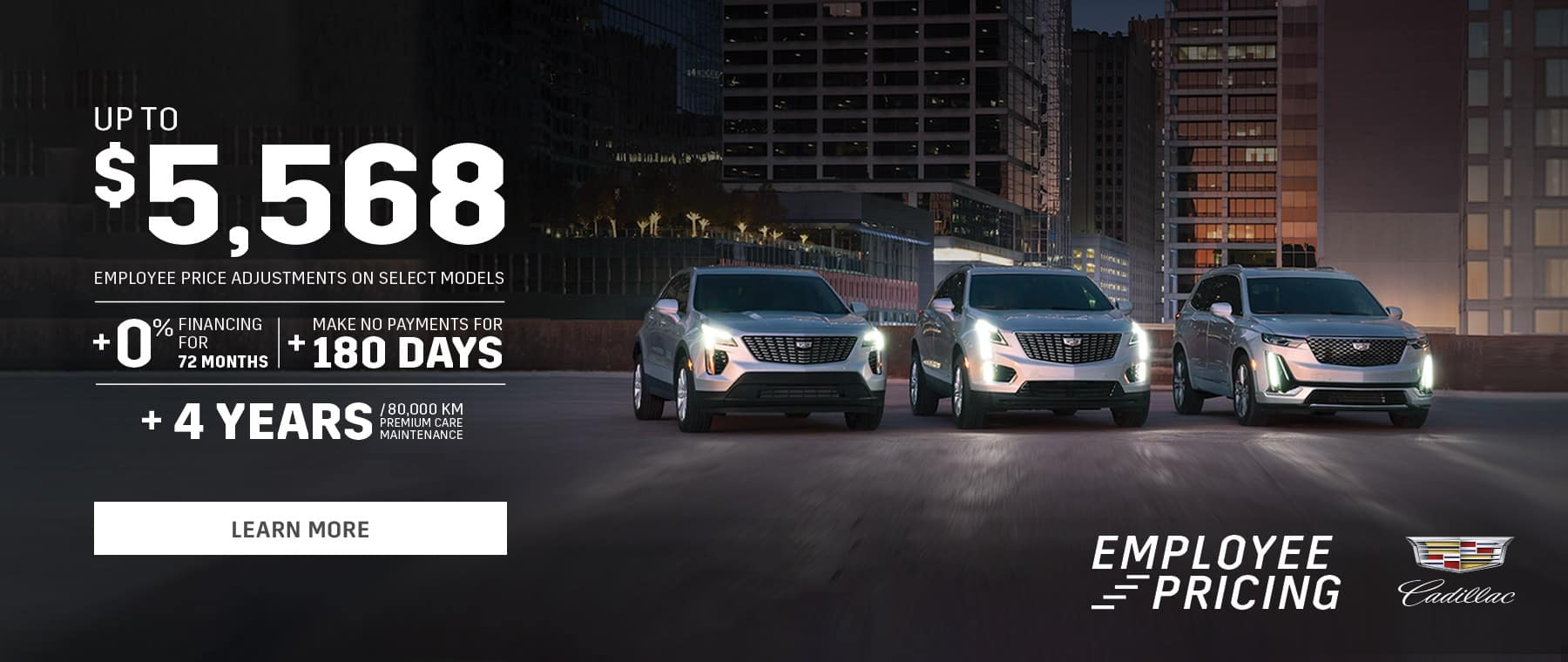 Employee Pricing Cadillac