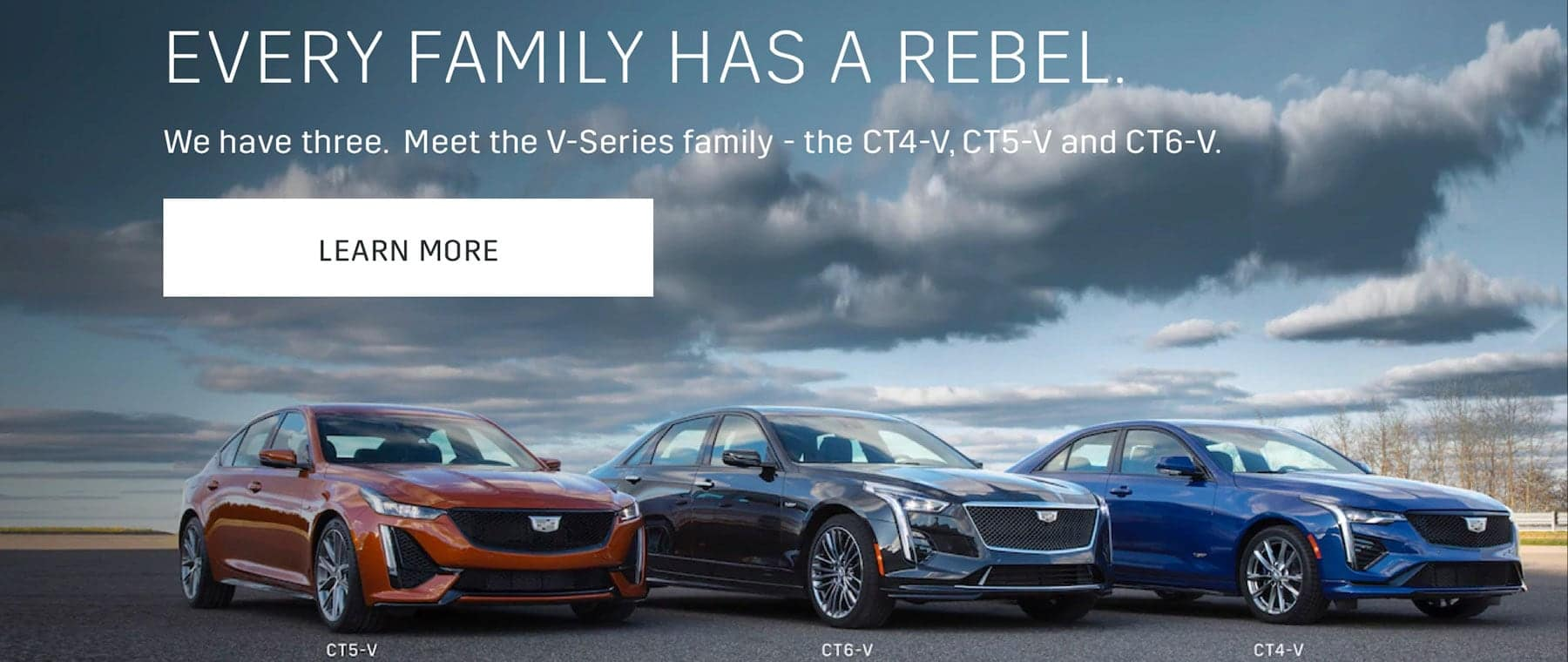 Every Family Has A Rebel. We have three. Meet the V-Series family. Learn More.