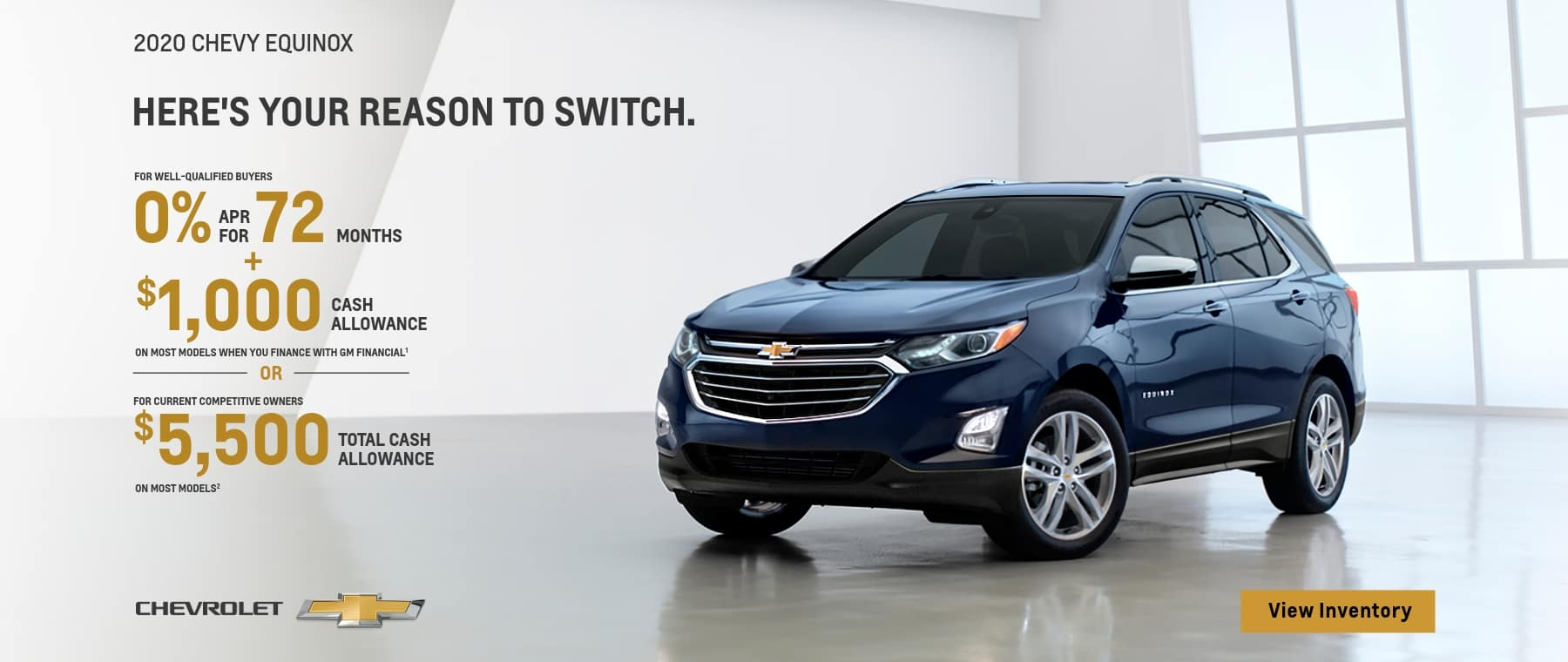 2020 Chevy Equinox - 0% financing for 72 months
