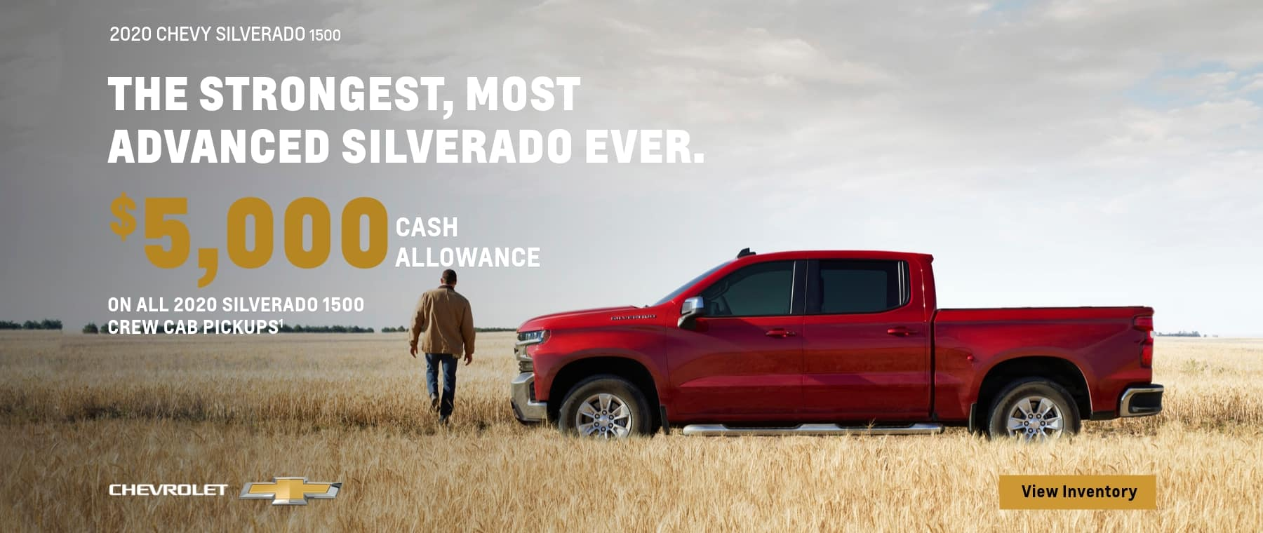 $5,000 Cash Allowance on all 2020 Silverado 1500 Crew Cab Pickups