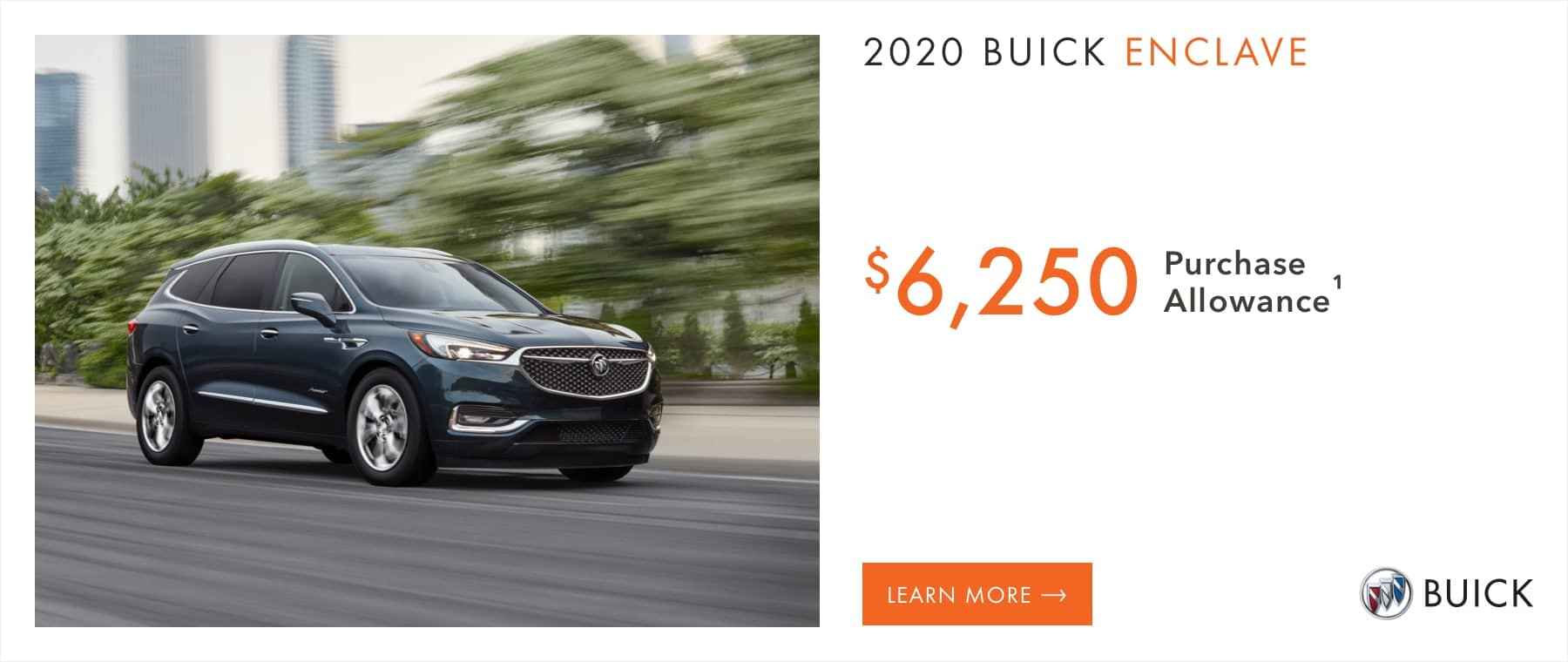2020 Buick Enclave Models - $6,250 Purchase Allowance