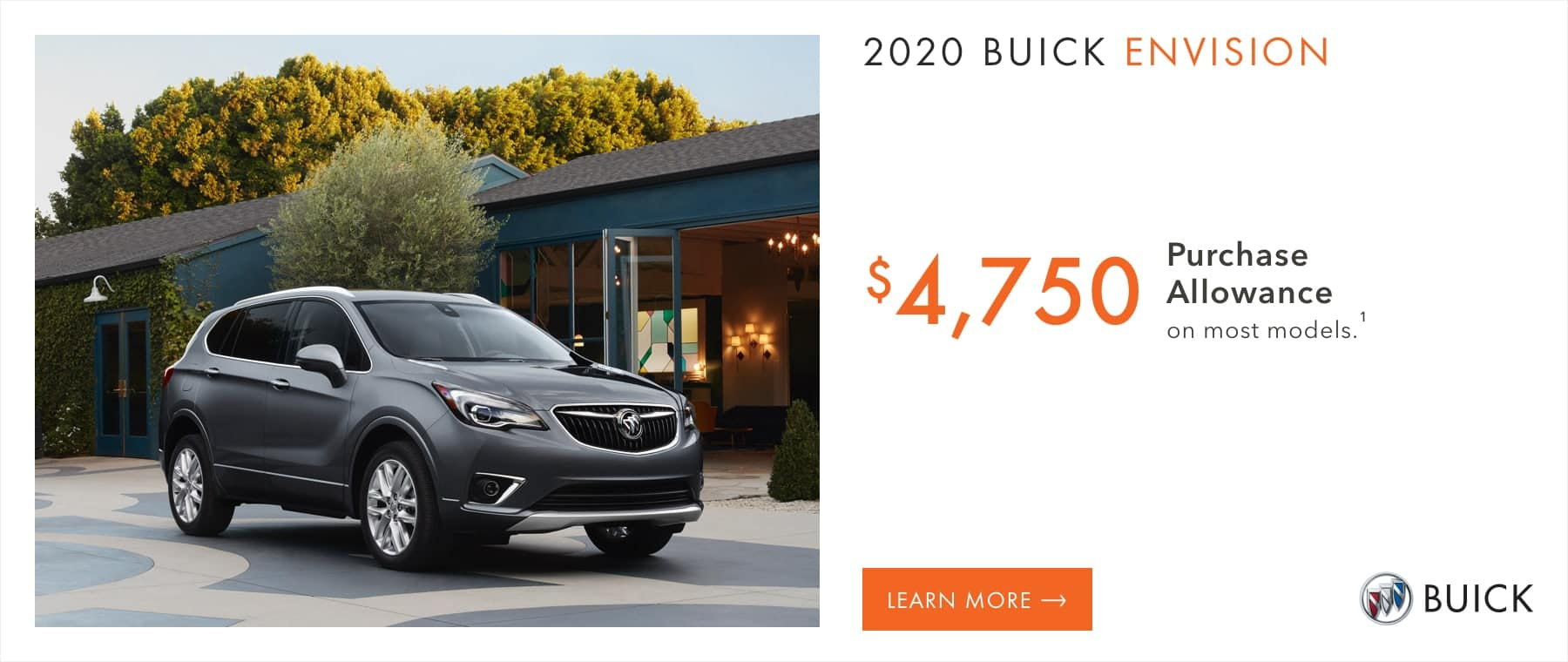Most 2020 Buick Envision Models - $4,750 Purchase Allowance