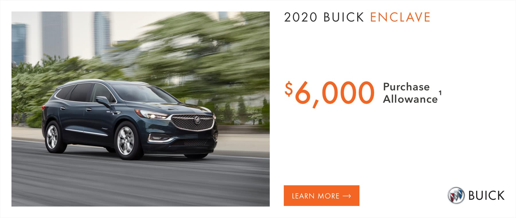 2020 Buick Enclave Models - $6,000 Purchase Allowance