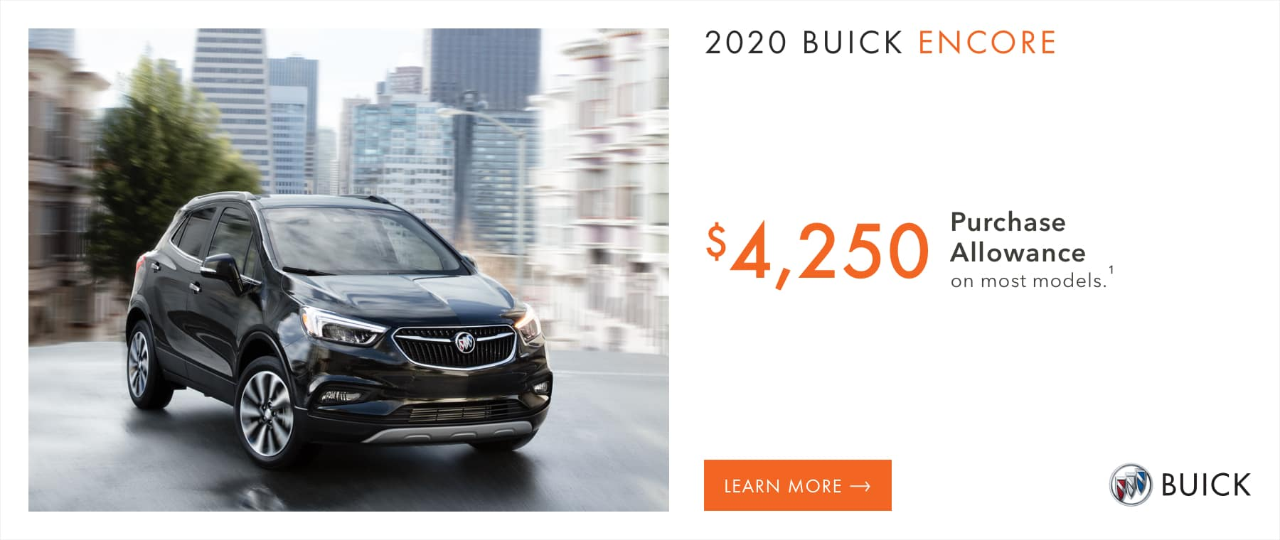 Most 2020 Buick Encore Models - $4,250 Purchase Allowance