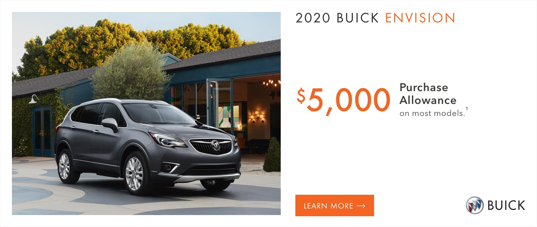 Most 2020 Buick Envision Models - $5,000 Purchase Allowance