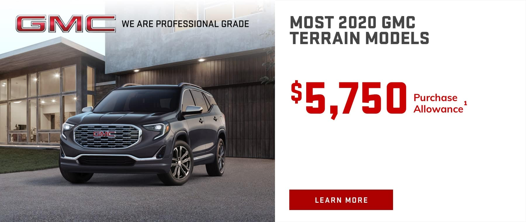 MOST 2020 GMC TERRAIN MODELS - $5,750 Purchase Allowance