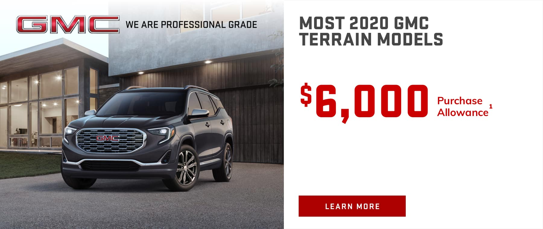 MOST 2020 GMC TERRAIN MODELS - $6,050 Purchase Allowance
