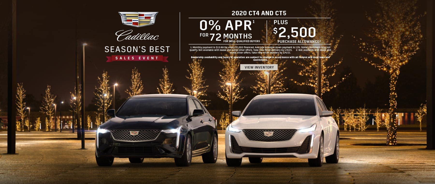 0% APR for 72 + $2,500 on 20MY CT4 & CT5