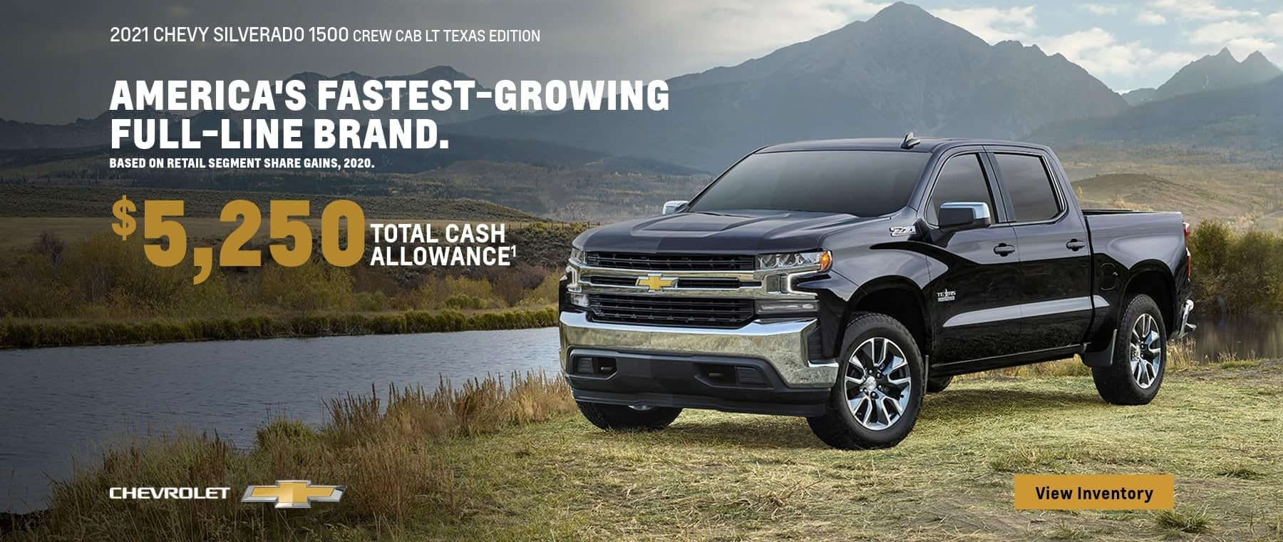 2021 Silverado 1500 Crew Cab LT Texas Edition $5,250 Cash Allowance