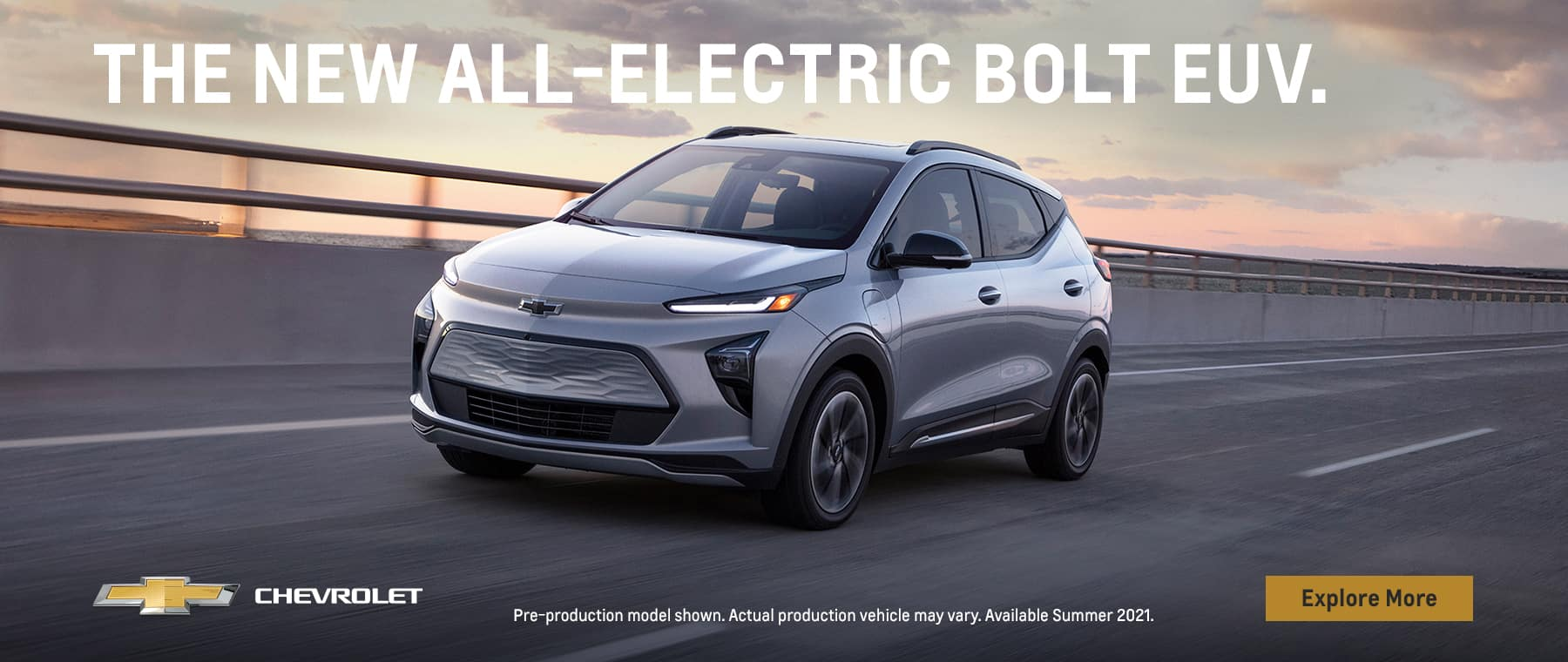 The new all-electric Bolt EUV.