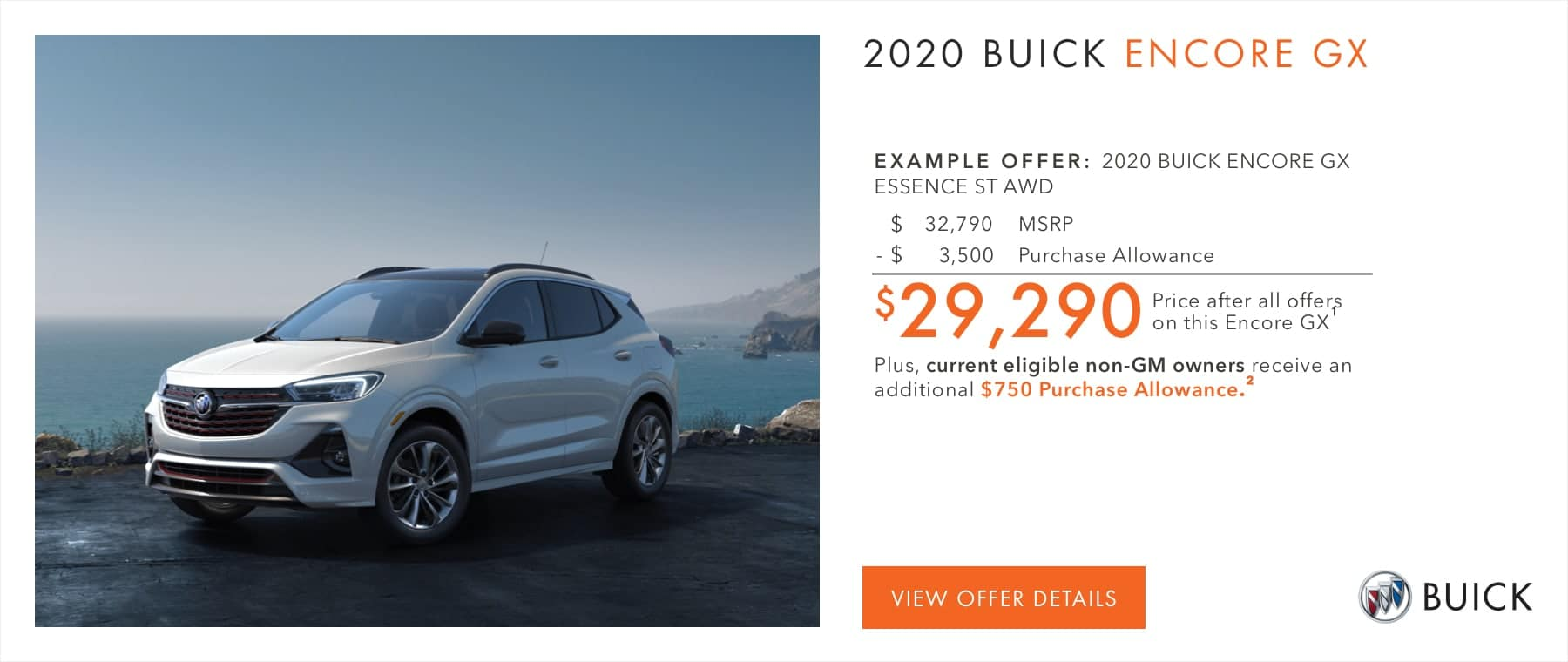 2020 Buick Encore GX offer