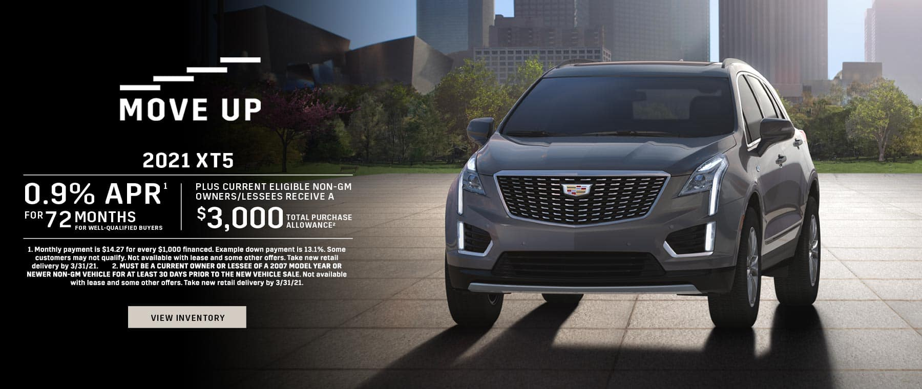 2021 Cadillac XT5 0.9% APR for 72 + $3,000 Purchase Allowance