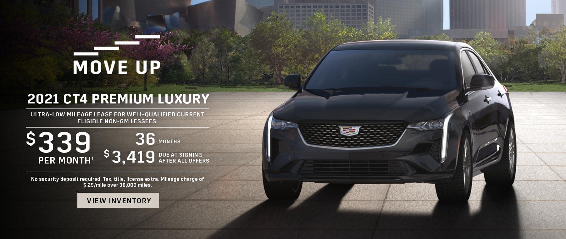 2021 Cadillac CT4 $339 / 36 months / $3,419 DAS