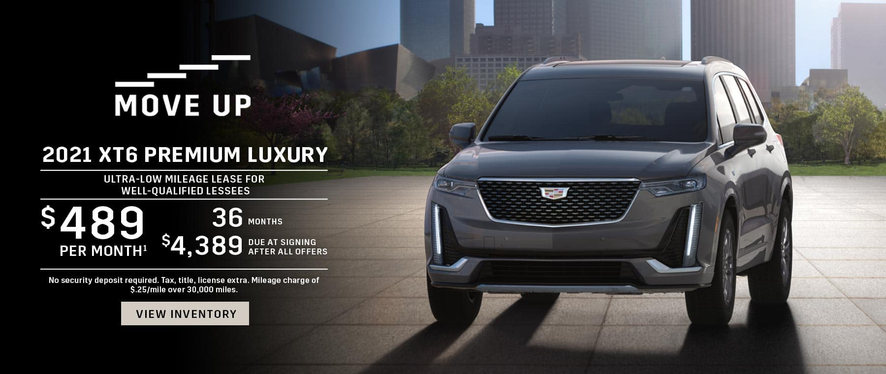 2021 Cadillac XT6 lease offer