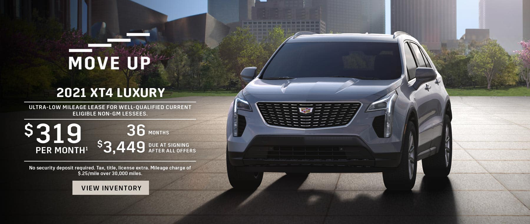 $319/mo for 36 mos with $3,449 DAS on a 2021 XT4
