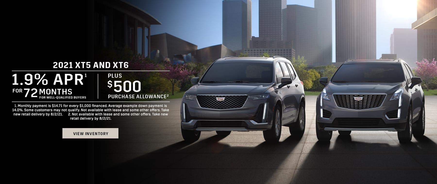 2021 Cadillac XT5 & XT6 offer