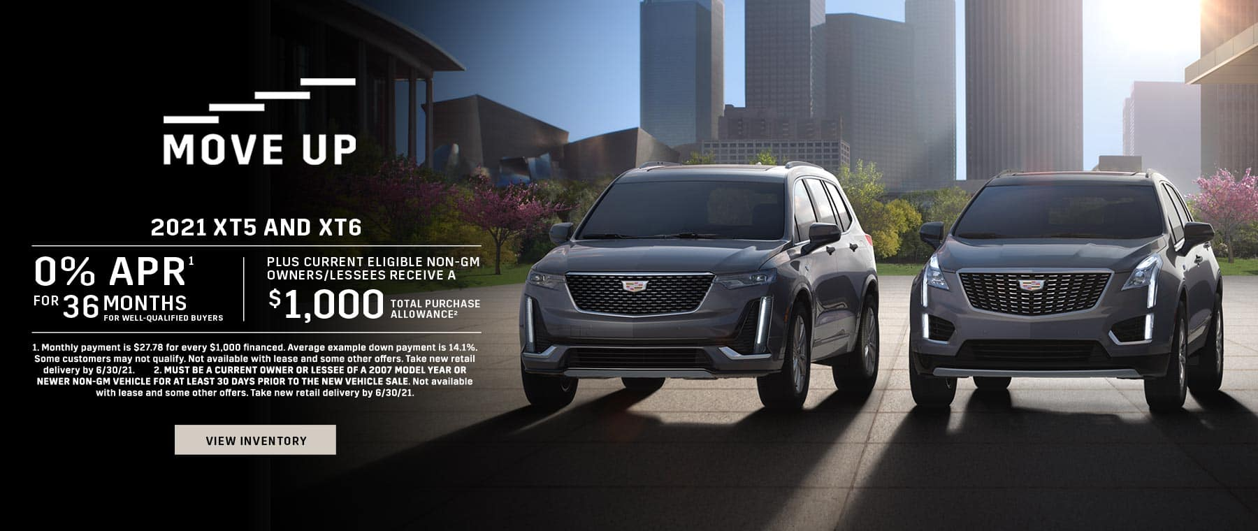 2021 Cadillac XT5 and XT6 offers