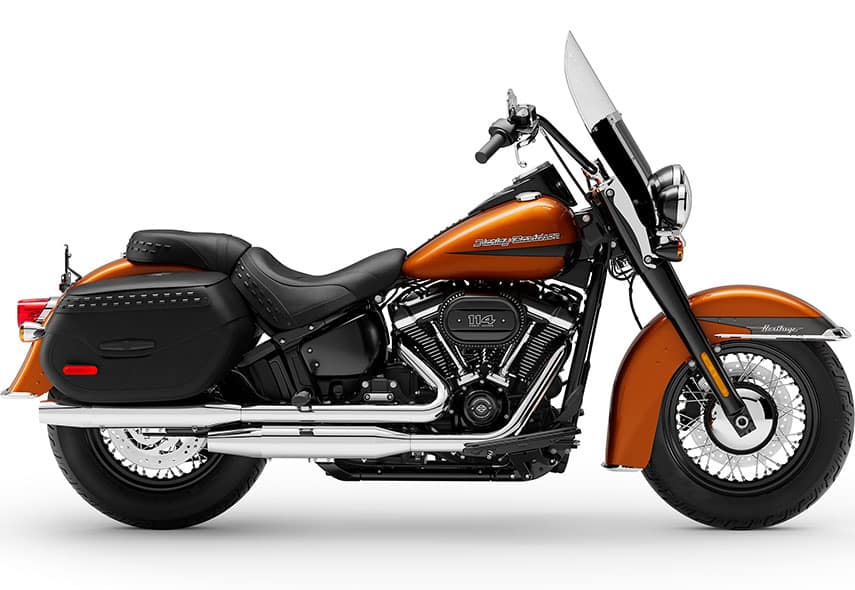 https://di-uploads-development.dealerinspire.com/dibrandhubharleydavidson/uploads/2019/08/MY2020-FLHCS-Heritage-Classic-114-Scorched-Orange-Silver-Flux.jpg