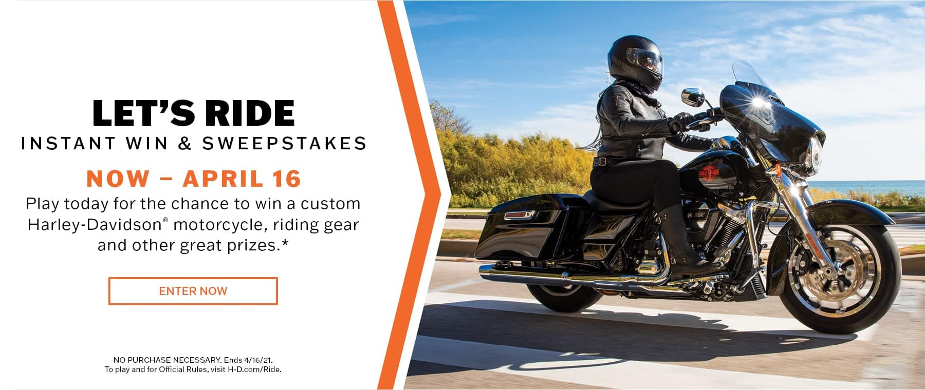 Harley Davidson Let's Ride Sweepstakes