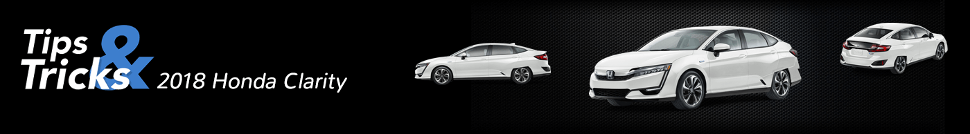 2018 Honda Clarity Hybrid Tips and Tricks Divider