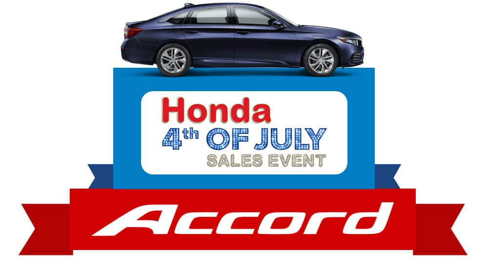 Honda 4th of July Sales Event 2019 Accord Graphic
