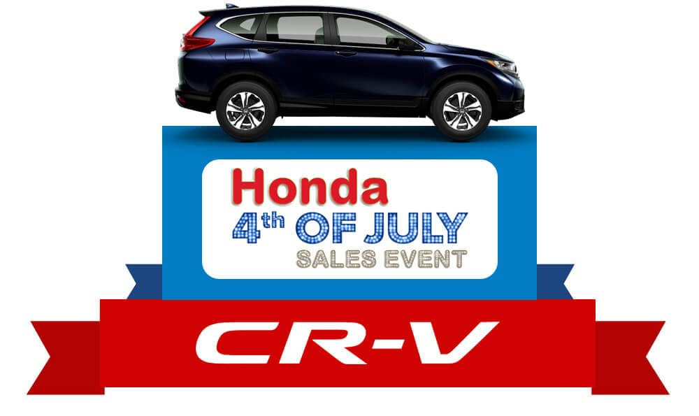 Honda 4th of July Sales Event 2019 CR-V Graphic
