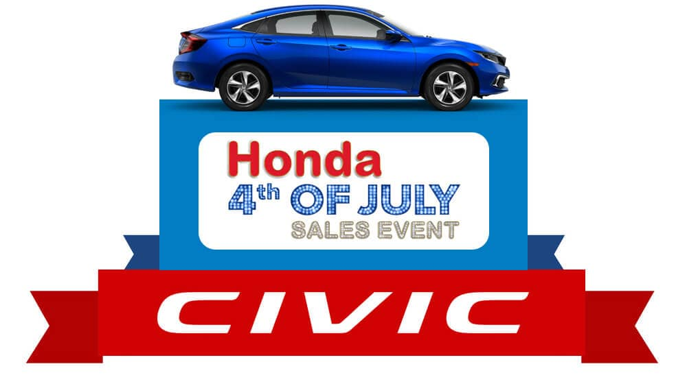 Honda 4th of July Sales Event 2019 Civic Sedan Graphic