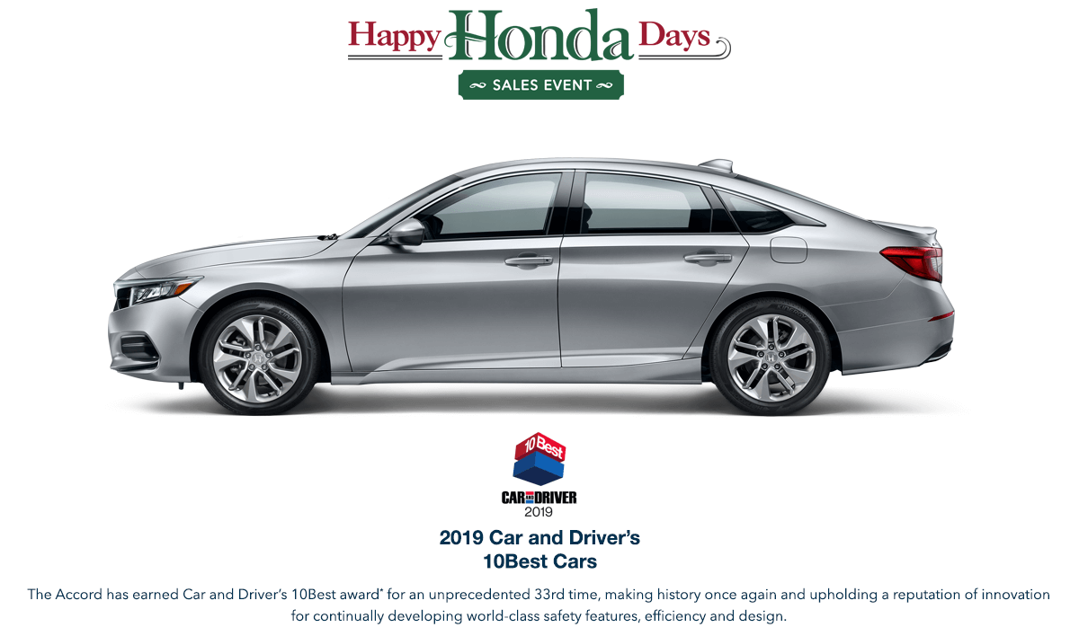 2019 Honda Accord Sedan HHD Award Hero