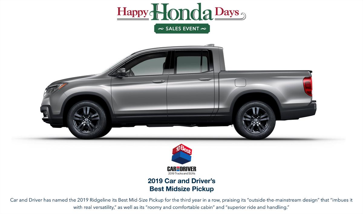 2019 Honda Ridgeline HHD Award Hero