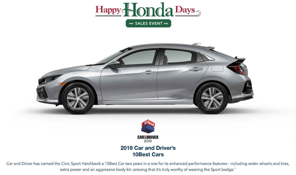 2020 Honda Civic Hatchback HHD Award Hero