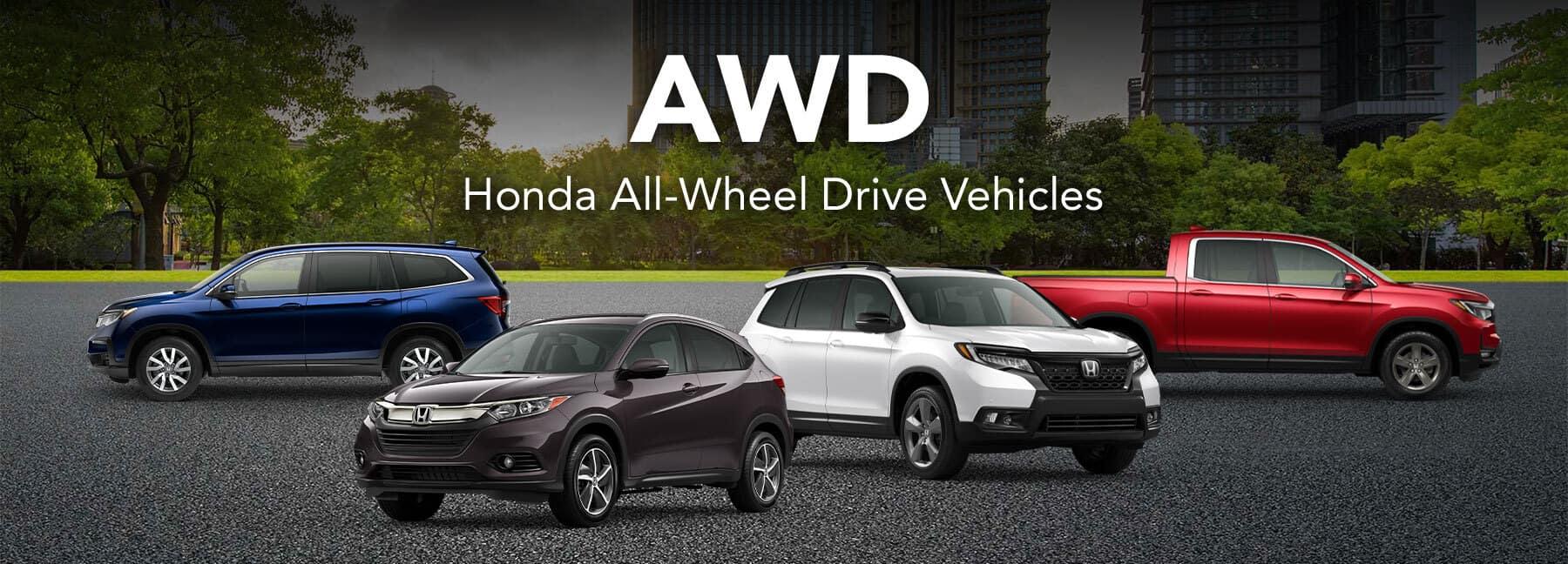 Honda AWD Lineup