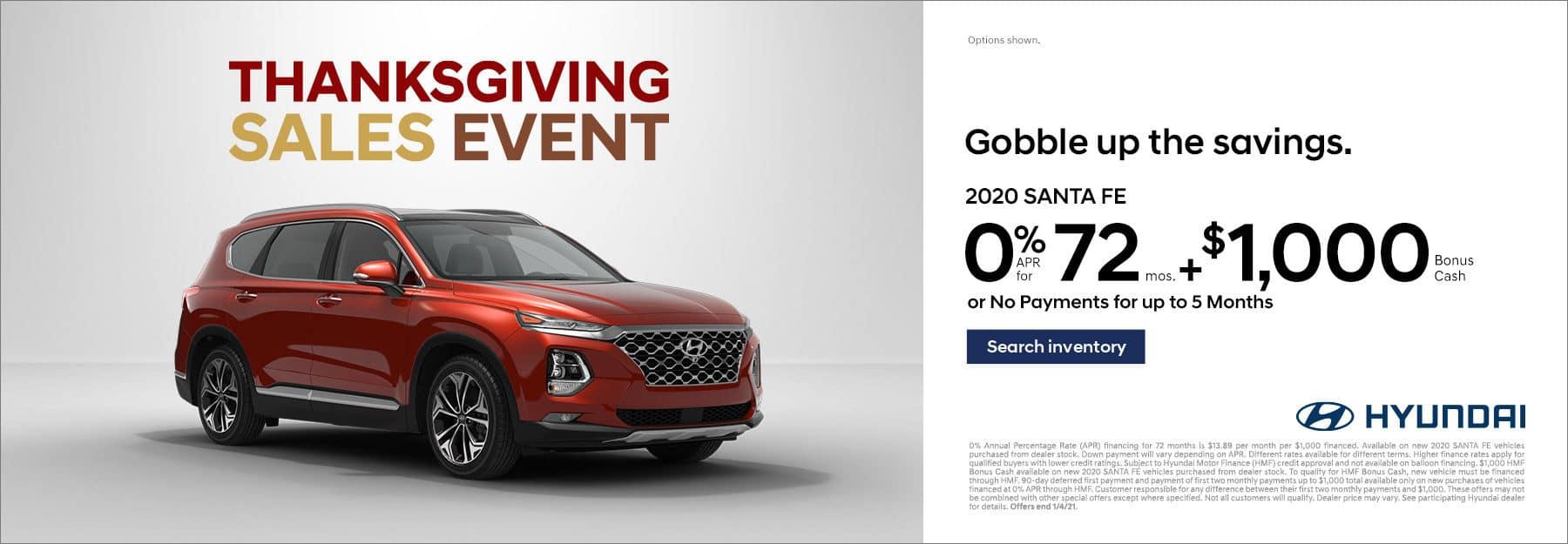 Hyundai Central Region Thanksgiving Sales Event