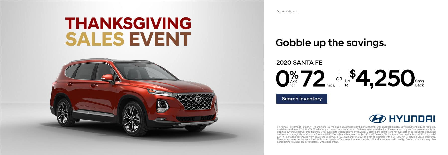 Thanksgiving Sales Event Santa Fe