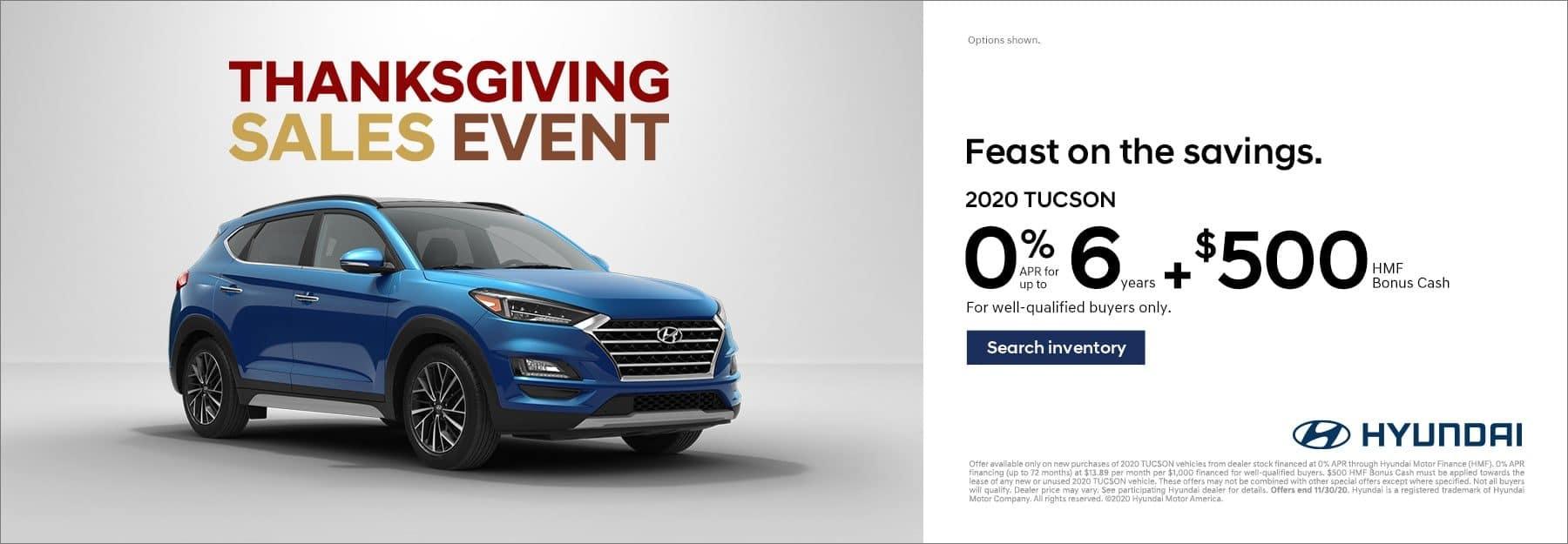 2020 Hyundai Tucson 0% for 6 years