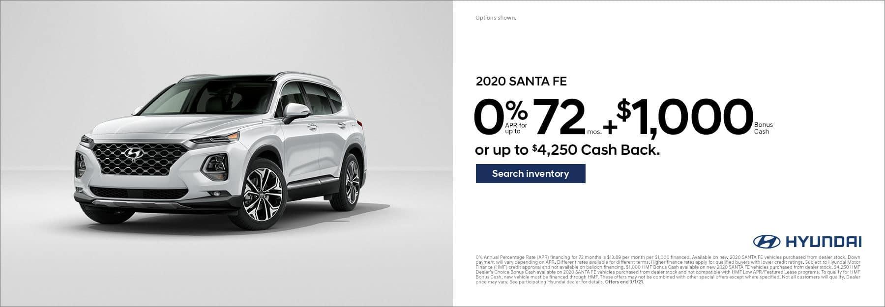 0% for 72 months Santa Fe