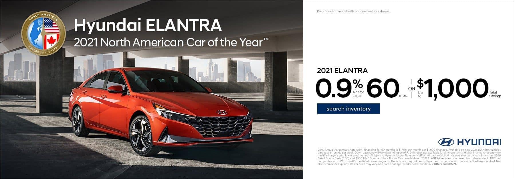 2021 Hyundai Elantra special offer